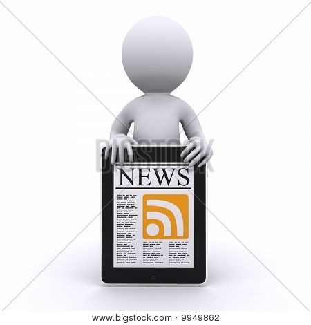 3D Human Read His Online News