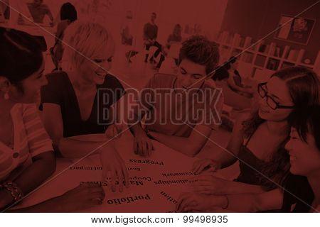 Student Universitiy College Friendship Teamwork Concept