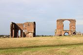 Ruins of an ancient roman mansion