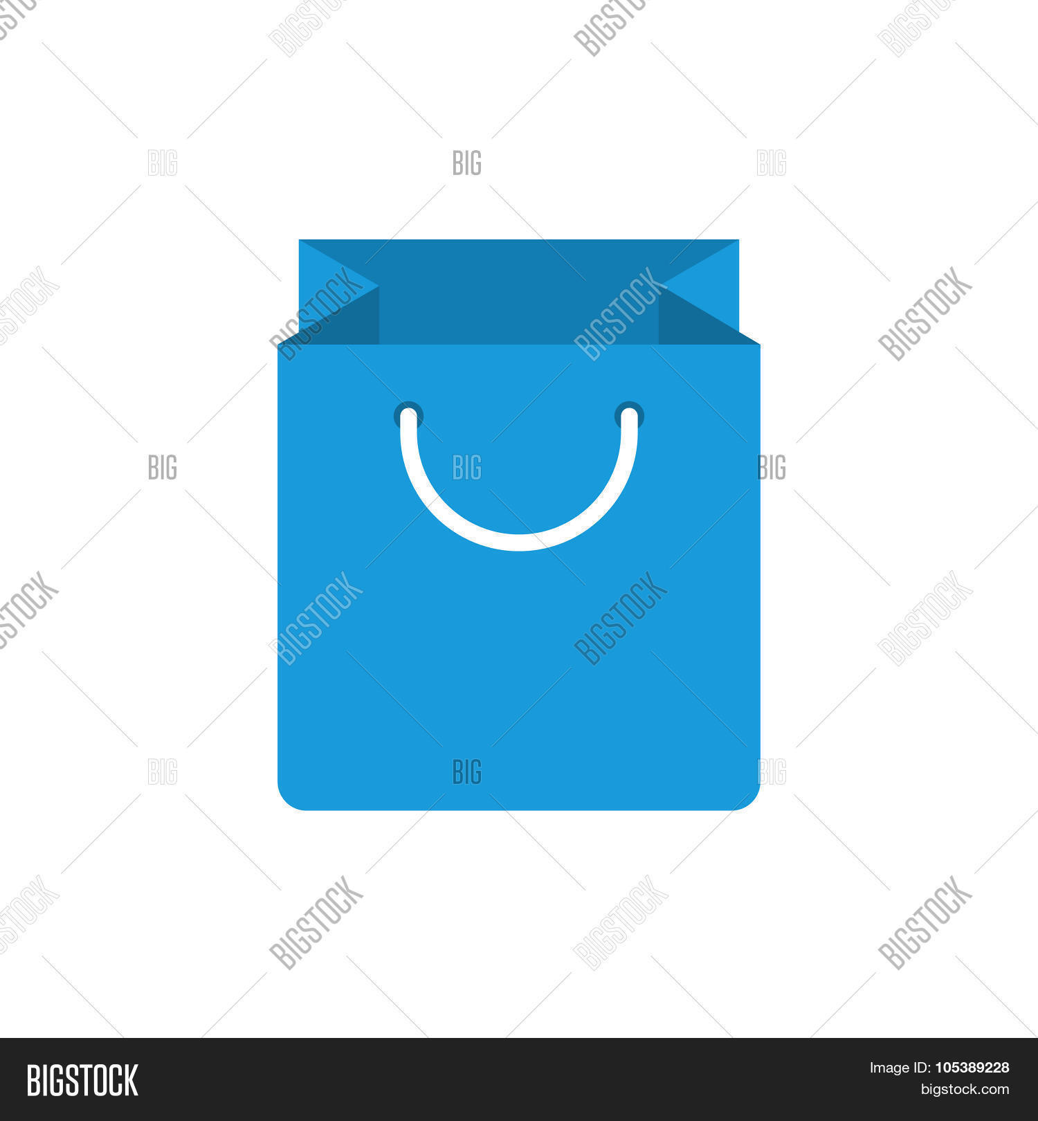 Paper bag vector - Shopping Bag Icon Modern Minimal Flat Design Style Paper Bag Vector Illustration