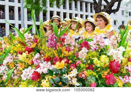 Flower Festival on the Madeira Island, Portugal.