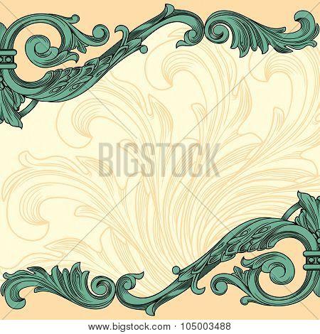 Vintage ornament border