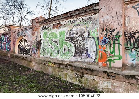Street Art, Old Urban Walls With Grungy Graffiti