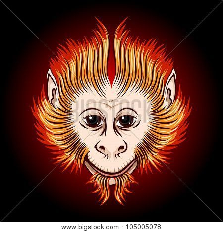 Fire Monkey Face