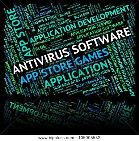 Antivirus Software Indicates Spyware Words And Unsecured