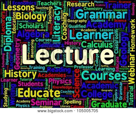 Lecture Word Means Lesson Text And Words