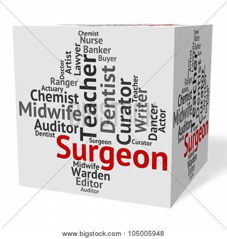 Surgeon Job Shows General Practitioner And Md