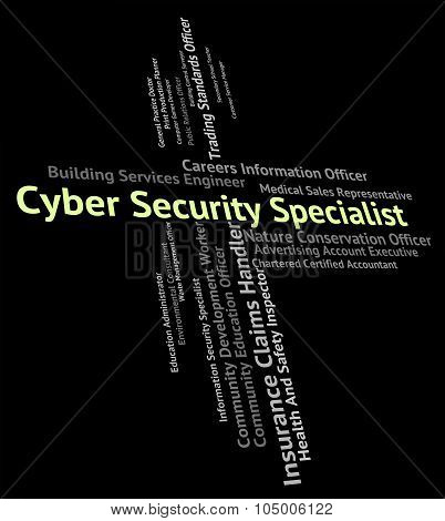 Cyber Security Specialist Shows World Wide Web And Authority