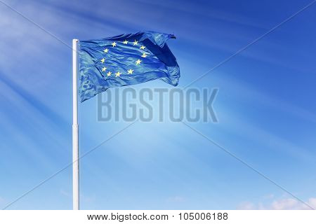 Sunbeam Lights The European Union Flag