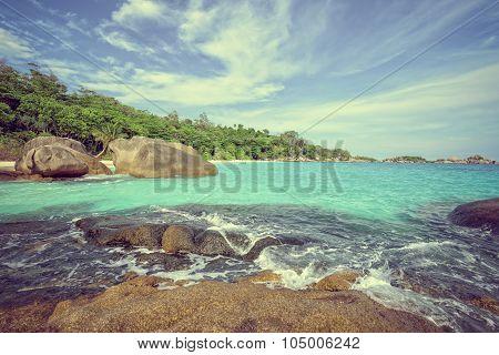 Vintage Style Summer Sea In Thailand