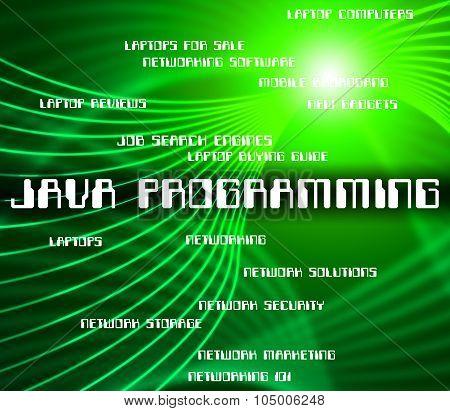 Java Programming Represents Software Design And Development