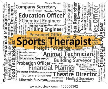 Sports Therapist Means Sporting Work And Job