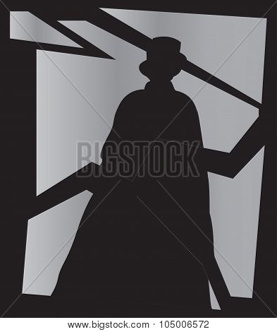 Jack The Ripper Shadow In Mirror