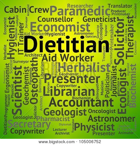 Dietitian Job Shows Position Occupations And Hiring