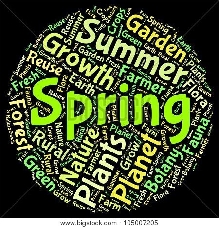 Spring Word Indicates Text Season And Seasons
