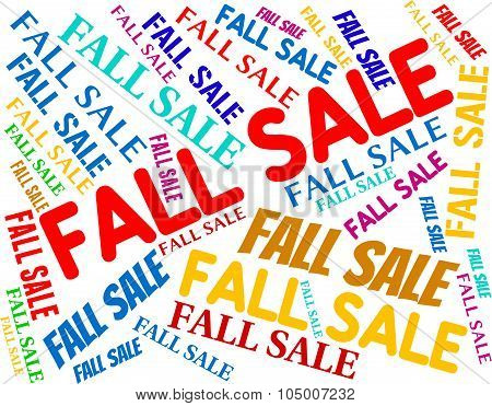 Fall Sale Means Words Autumnal And Retail