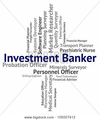 Investment Banker Represents Portfolio Job And Savings