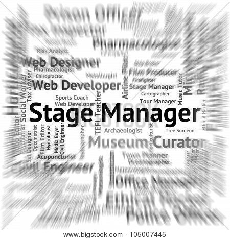 Stage Manager Represents Live Event And Broadway
