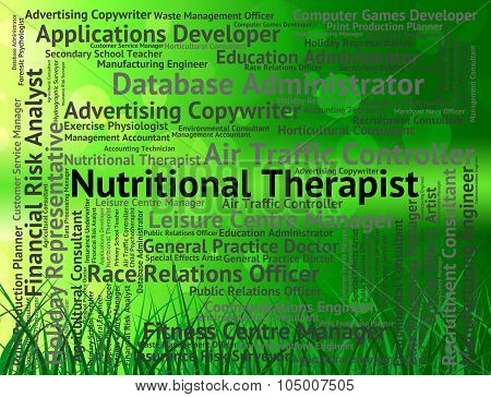 Nutritional Therapist Represents Diet Hire And Therapists