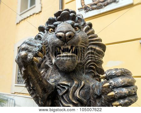 Lion Statue In Potenza, Italy