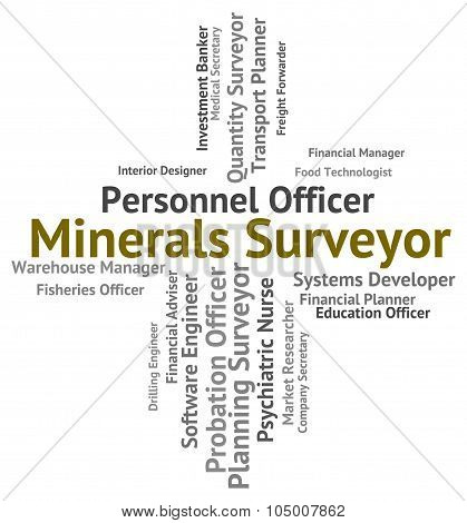 Minerals Surveyor Indicates Jobs Employee And Ores