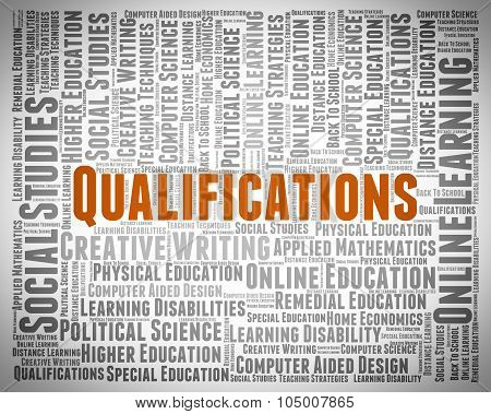 Qualifications Word Indicates Expert Licensed And Competent