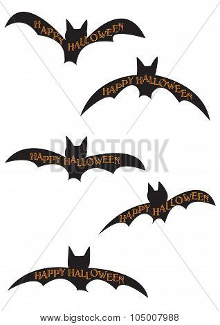 Halloween Bat Silhouettes