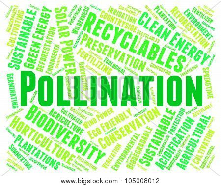 Pollination Word Represents Fertilize Text And Procreation