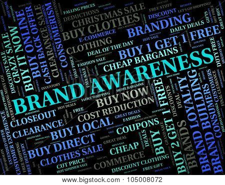 Brand Awareness Indicates Logos Line And Perception