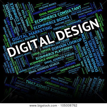 Digital Design Represents Word Computer And Technology