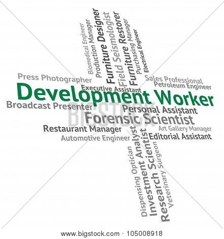 Development Worker Shows White Collar And Advance