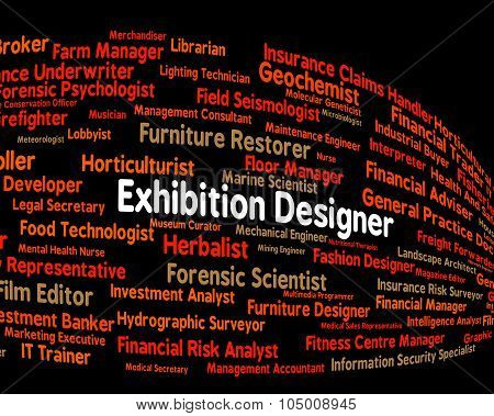 Exhibition Designer Shows Trade Fair And Demonstration