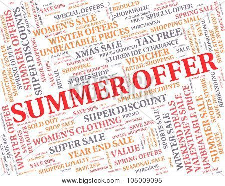 Summer Offer Means Reduction Summertime And Season
