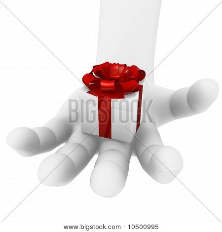 Gift in a hand