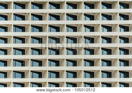 Multiple Windows Pattern On A Office Building
