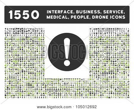 Problem Icon And More Interface, Business, Tools, People, Medical, Awards Flat Glyph Icon Collection