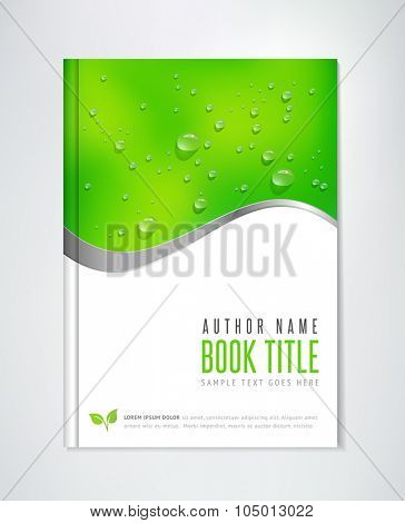 Brochure Design - vector template. Can be used for ecological themes, organic agriculture, healthy lifestyle topics.