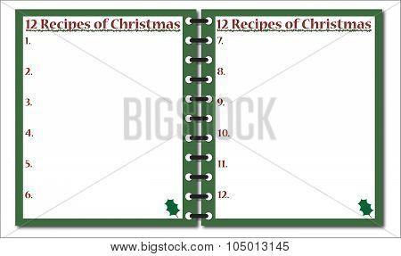 12 Recipes Of Christmas Notepad