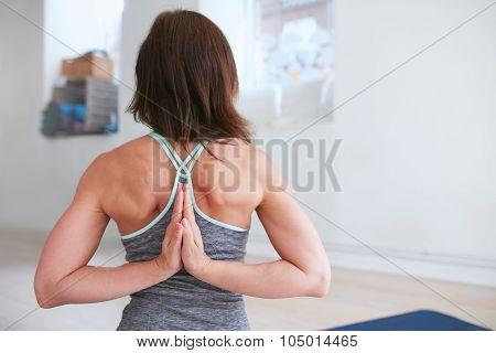 Pashchima Namaskarasana Performed By A Fitness Female
