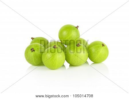 Indian Gooseberry On White Background