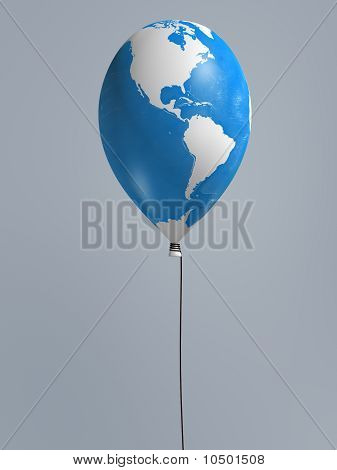 Global Map Balloon