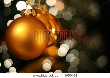 Christmas Golden Ball Card