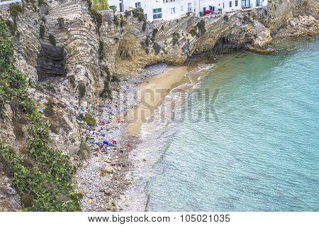 Polluted Beach In Ibiza.