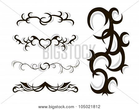 Tribal tattoo stencil vector illustration