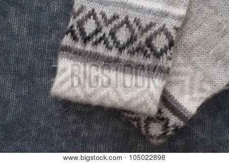 Fine Grey Cashmere Textiles - Studio Shot