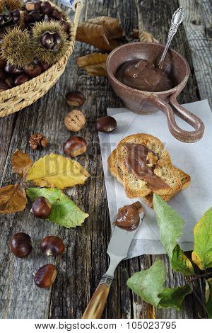 Toast With Chestnut Jam