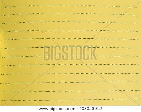yellow lined sheet of paper