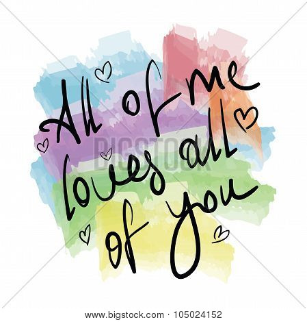 Love Romance Quote Sayings Poster Print Greeting Card Background Design