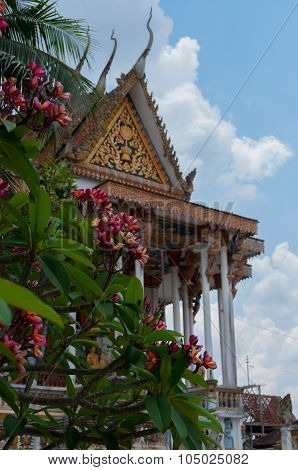 Beautiful ancient temple in Laos