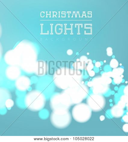Christmas bokeh light.